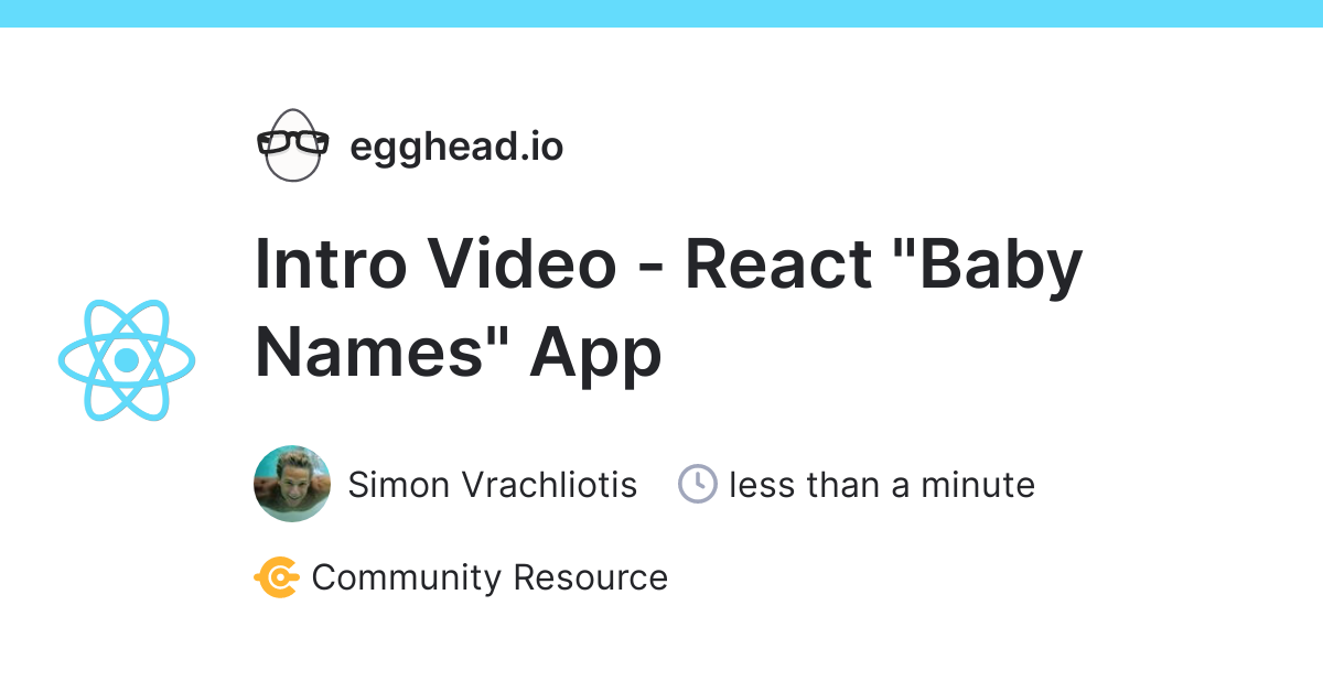 react: Intro Video - React